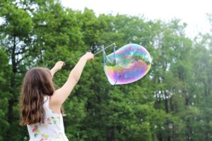 Bubbles are such a party staple and keep kiddos entertained!